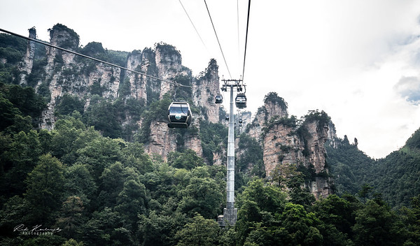 Cable car in Tianzi mountain
