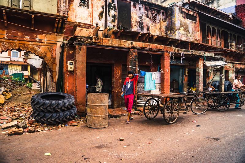 Dans les rues d'Agra