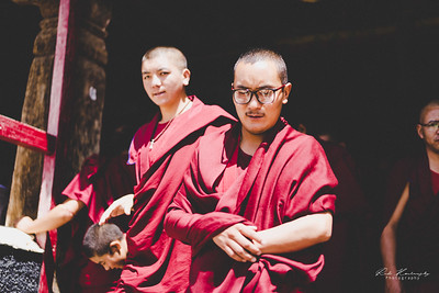 Monk in Thiksey Monastery