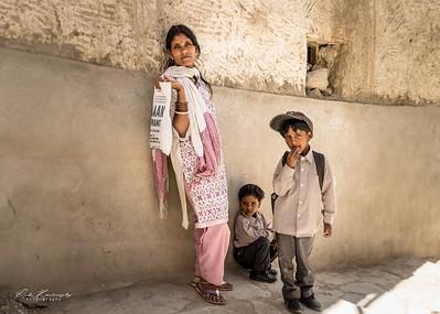 Indian family in Leh