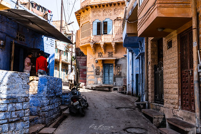 In the street of blue city, Jodhpur