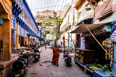 In the street of blue city, Jodhpur