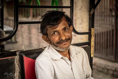 Indian rickshaw driver