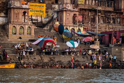 Purification ghat of Varanasi