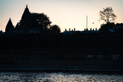 Kite over Ganga