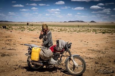 Nomade dans le desert de Gobi