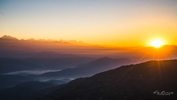 Sunrise in Nagarkot