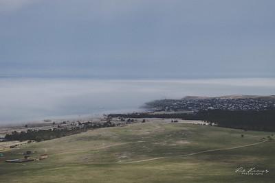 khoujir dans le brouillard du baikal