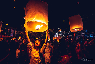 lanterns during the new year eve in Chiang mai