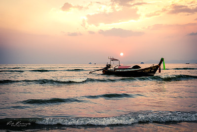 Sunset Ao Nang beach