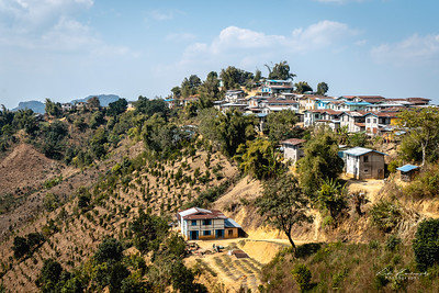 Village during the trek in Kalaw region
