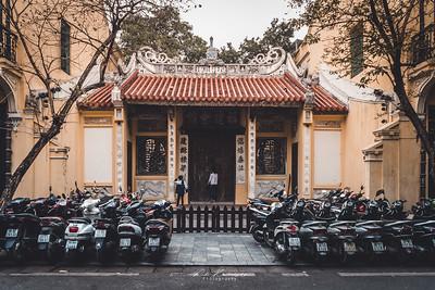 in the street of Hanoi