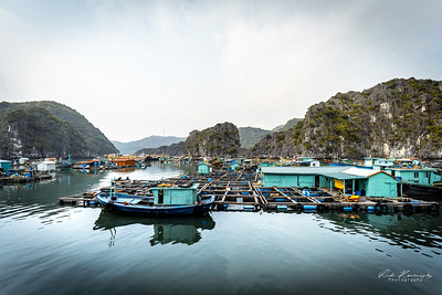 Fishing village in vietnam