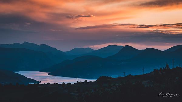 Sunset sur serre ponçon
