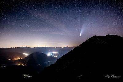 comete neowise au dessus d'Alibiez Montrond