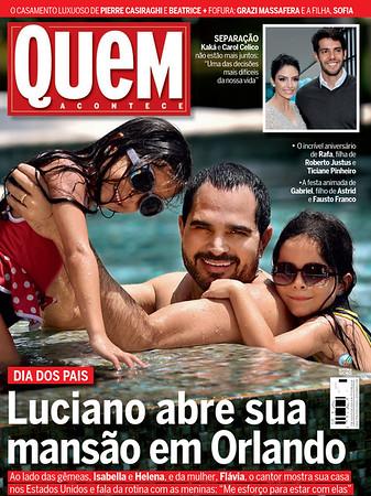 Luciano Camargo Revista Quem Capa - Cover
