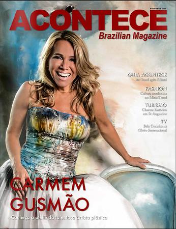 Carmem Gusmão Acontece Magazine Cover