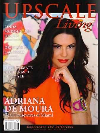 Adriana de Moura Upscale Living Magazine Cover