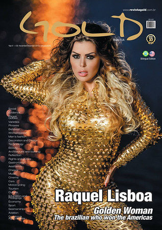 Raquel Lisboa Gold Magazine Cover
