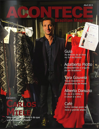 Carlos Miele Acontece Magazine Cover