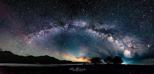 Milky way on Olkhon valley