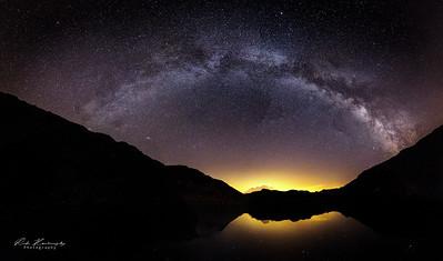 Voie Lactée au dessus du Lac Noir Grand Arc