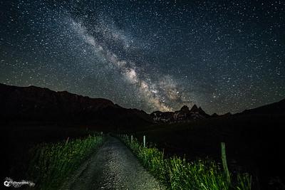 voie lactée, aiguille arves, albiez montrond, astrophoto