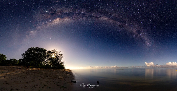 Milkyway and the Moon