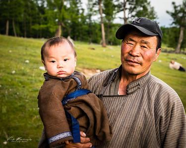 Chez une famille nomade dans la province de Hövsgöl