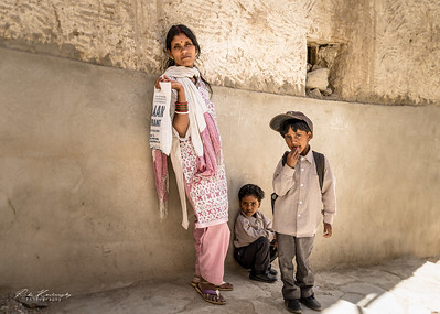 Indian family in Leh