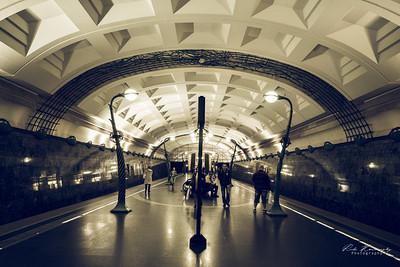 Station de metro à moscou
