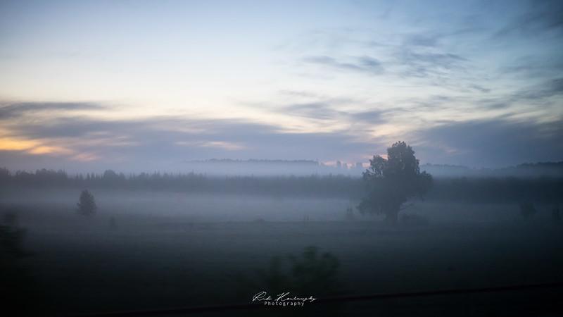 Le matin dans le transsibérien