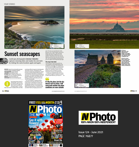 N-Photo Magazine Issue 124 June 2021 p76&77, Your Stories (3 pages Portfolio)