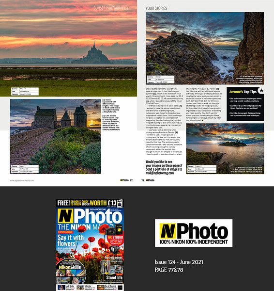 N-Photo Magazine Issue 124 June 2021 p77&78, Your Stories (3 pages Portfolio)