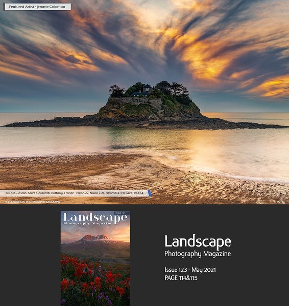 Landscape Photography Magazine Issue 123 May 2021 p114&115, Featured Artist (10 pages Portfolio)