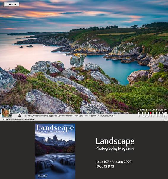 www.jeromecolombo.com, Flickr, Landscape Photography Magazine N°107 january 2020, Instagram