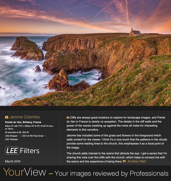 """www.jeromecolombo.com, Flickr, Lee Filters """"Your View"""" march 2019"""