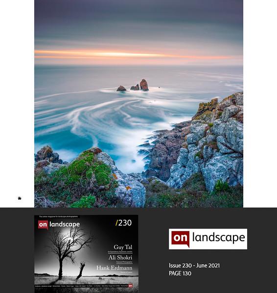 On Landscape Magazine issue 230 June 2021, 5 pages portfolio,