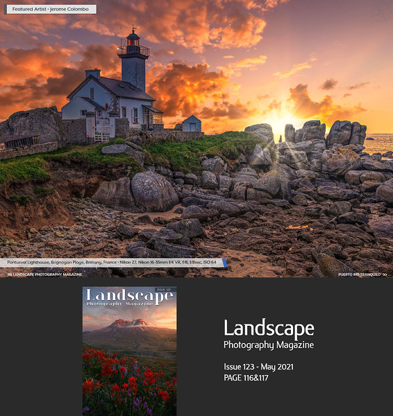 Landscape Photography Magazine Issue 123 May 2021 p116&117, Featured Artist (10 pages Portfolio)