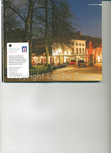 The Wijngaardplein at sunset in Bruges (Brugge), Belgium is published on the pages 14-15 of the 2009 edition of the CityZine Guide of Bruges.