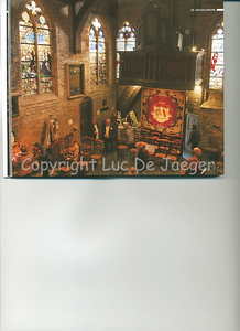 This interior view of the (very little) Jeruzalemkerk (Church of Jerusalem) in Bruges (Brugge), Belgium is published on the pages 18-19 of the 2009 edition of the CityZine Guide of Bruges.