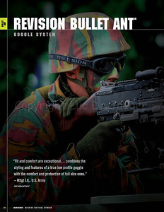On page 22 of the 2009 Revision Eyewear Product Catalog my background photo of a Belgian infantry soldier wearing Revision Eyewear goggles was published.  Revision Eyewear is the leading supplier of ballistic eyewear to the Military and Police.