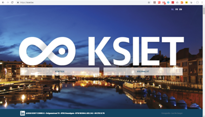 The web site https://ksiet.be/ uses one of my Portus Ganda pictures for the background (Portus Ganda is the marina in Ghent). Ksiet is a corporation focusing on business networking and increasing sales.