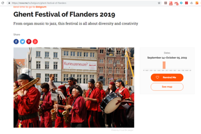 This photo about the annual Ghent Festival is featured on https://rove.me/to/belgium/ghent-festival-of-flanders