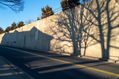 wall with shadows