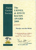The Lionel & Joyce Bacon Award, 2009, AGS (best practical alpine gardening article published in The Alpine Gardener in 2009)