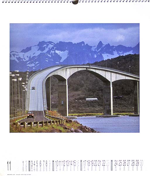Ackermann Verlag in Germany publishes many different calendars. Bridges is one of them.