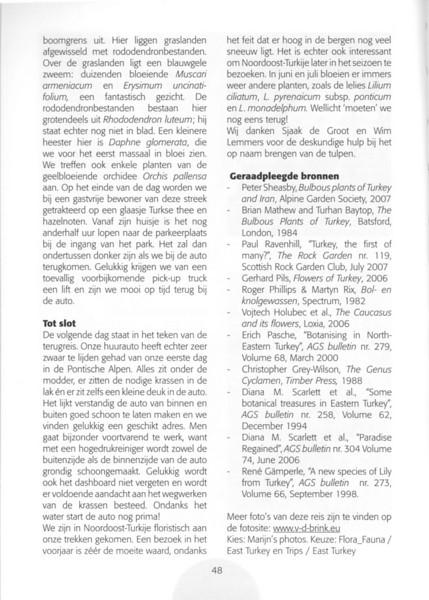 Een voorjaarsronde door Noordoost-Turkije (NRV No 98 Februari 2010) p. 48
