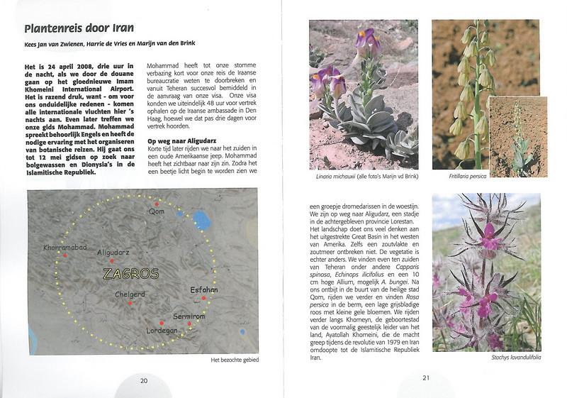 Plantenreis door Iran  (NRV Folium Alpinum No. 95 May 2009 p. 20–21)