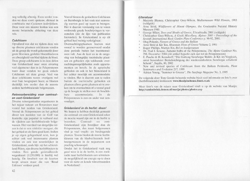 Autumnflora of Central Greece (NRV, No. 82, Feb 2006, p. 42–43)